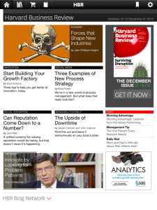 HBR on iTunes and iPad